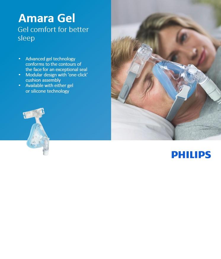 ماسک تنفسی فیلیپس مدل Amara gel